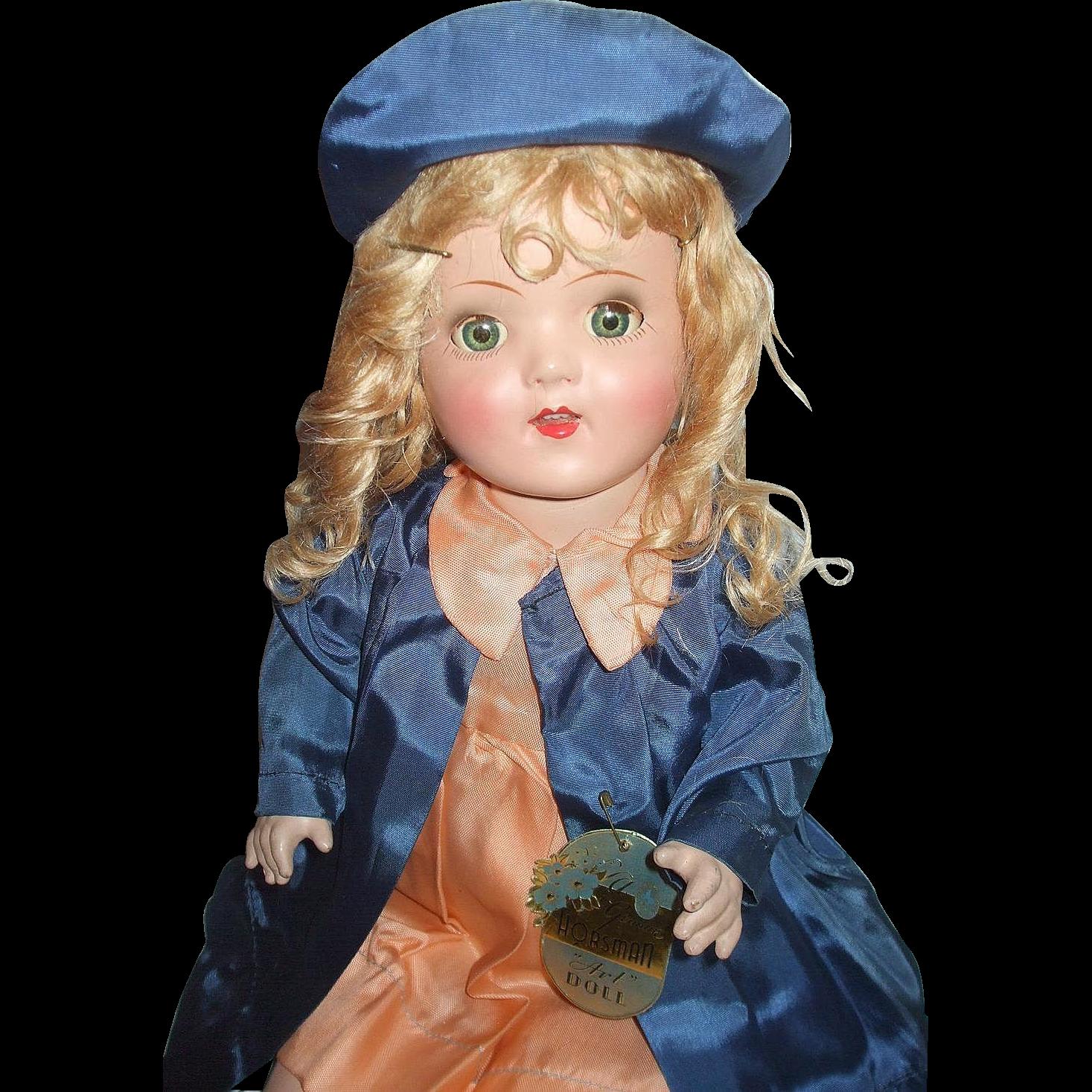 "21"" All Original Horsman Bright Star/Art Doll In Original Shipper Box With Tag"