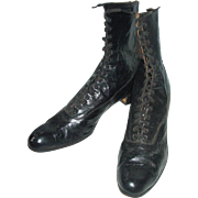 Nice Old Pair Of Ladies Lace Up Boots