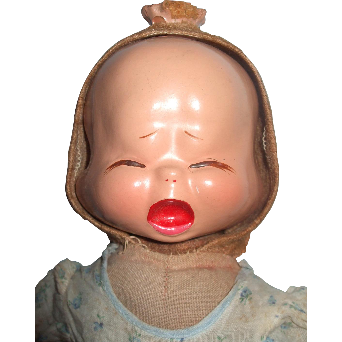 Three Faced Trudy Composition/Cloth Doll