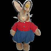 Rare Steiff  All Original Dressed 525 Bunny Rabbit