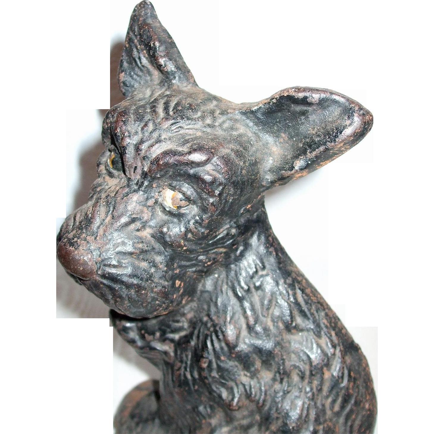 Great Character Scottie Dog Cast Iron Doorstop
