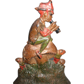 Interesting Pied Piper On Mushrooms Cast Iron Doorstop