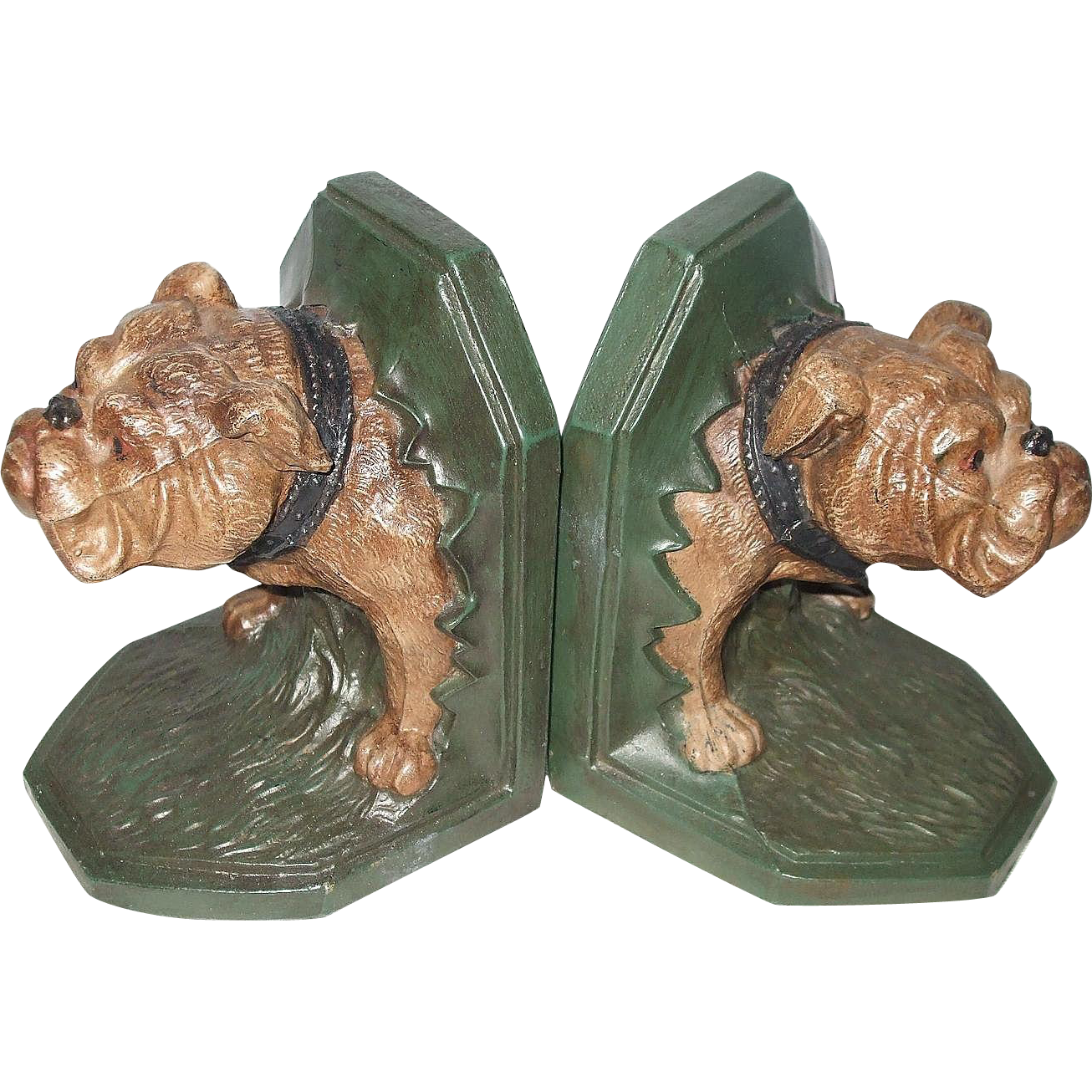 Awesome Bulldog Cast Metal 3D Bookends