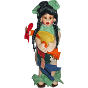 Fabulous Colorful N.A.T.I. Cloth Doll With Rooster