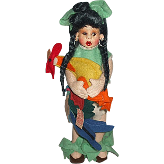 Colorful N.A.T.I. (Lenci Type) Doll
