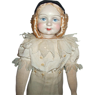 Rare French Pierrot Boudoir Doll Haute Couture