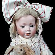 """19"""" Adorable Kestner Hilda Wigged 237 Toddler Doll"""