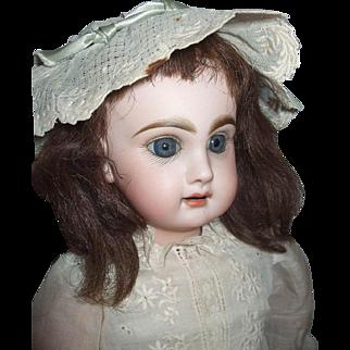 "Early Unmarked Head Antique Jumeau Bebe 18"" Body Marked Bebe Jumeau SGDG Depose"