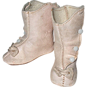 Pale Pink Leather Doll Shoes