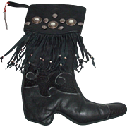 Unique Handmade Leather Boot Stocking By Boots Bailey Designs