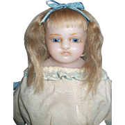 Extreme Pouty English Poured Wax Child Doll