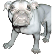 Very Rare Early B & G Bing & Grondahl Bulldog Dog Figurine #1605