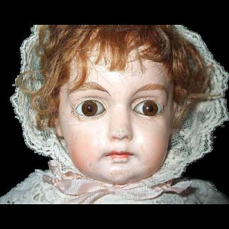 Darling Paper Mache Shoulder Head Doll