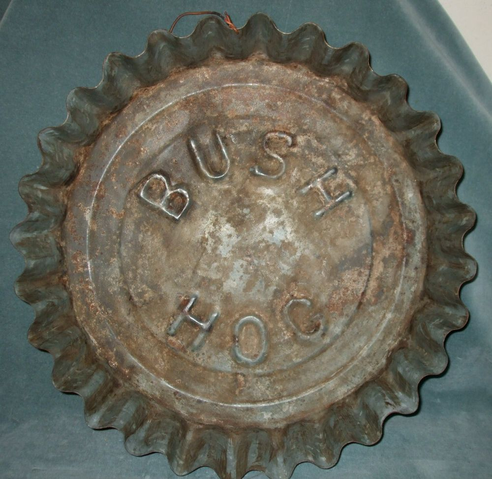 Early Advertising Bush Hog Tin Bottle Cap