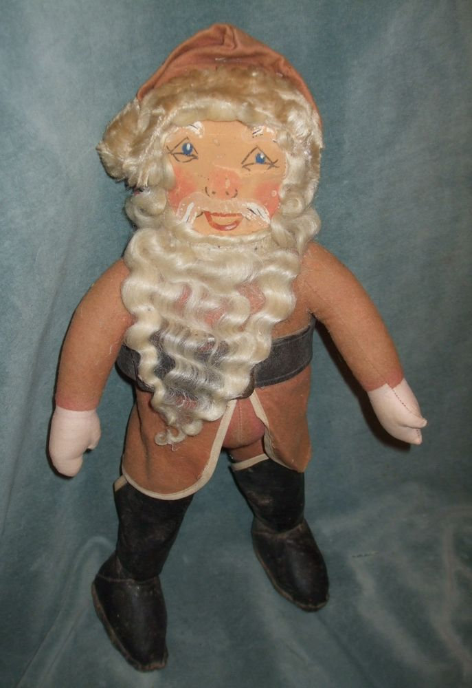 Sweet Old Pot Bellied Santa Claus Rag Doll