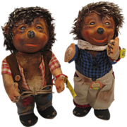 Steiff's Earliest Mecki and Micki Dolls With IDs