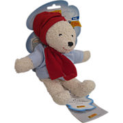 Steiff's Soft Cotton Play Bear For Babies In Original Packaging With All IDs