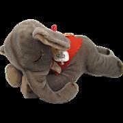 Steiff's Largest Floppy Ele Sleeping Mohair Elephant With All IDs