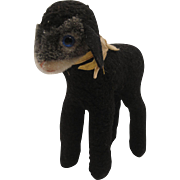 Steiff's Medium Sized Swapl Black Lamb With Two IDs