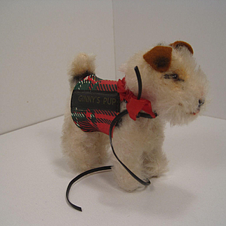 Steiff's Ginny's Pup Smallest Fox Terrier With Accessories And IDs