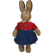 Steiff's Smaller Pupphase Maedel Rabbit Doll With IDs