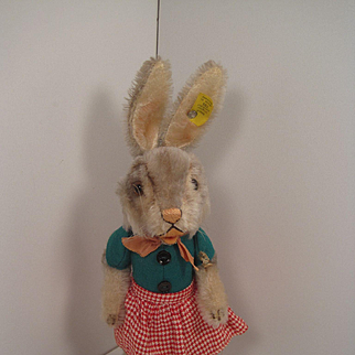 Steiff's Smallest Early Postwar Dressed Rabbit Girl With IDs