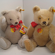 "Two Steiff ""Mask"" Teddy Bears With All IDs"