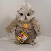 Steiff's Soft Plush Young Owl With All IDs