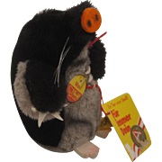 Steiff's Soft Plush Maxi Mole With Red Shovel and All IDs