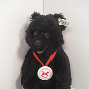 Steiff's Limited Edition Black Mohair Bear For FAO Schwarz With All IDs