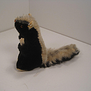 Steiff's Adorable And Uncataloged Begging Mohair Skunk With ID