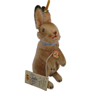 Steiff's Mohair Manni Rabbit Replica With All IDs