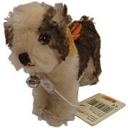 Steiff's Small Standing Molly Puppy Replica With All IDs