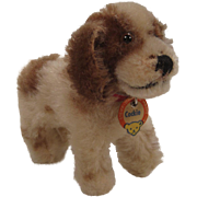 Steiff's Smallest Brown and White Mohair Cockie Cocker Spaniel With ID - Red Tag Sale Item