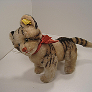 Steiff's Medium Sized Fully Jointed Kitty Cat With IDs