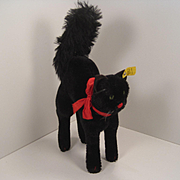 Steiff's Largest And Totally Fabulous Post War Black Tom Cat With IDs