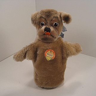 Steiff's Mopsy The Pug Handpuppet With All IDs