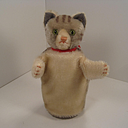 Steiff's Mohair Cat Hand Puppet With ID