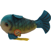 Steiff's Blue Flossy Fish With All IDs
