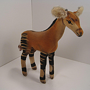 Steiff's Medium Sized Velvet and Mohair Okapi