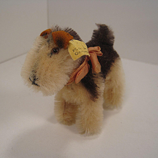 Steiff's Smallest Terry Terrier With IDs