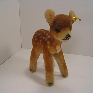 Steiff's Medium Sized Mohair Deer With All IDs