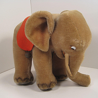 Steiff's Almost Largest Standing Mohair Elephant With All IDs
