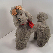 Steiff's Smallest FAO Schwarz Exclusive Grey Snobby the Poodle With IDs