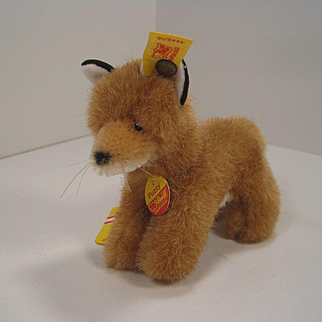 Steiff's Darling Standing Fuzzy Fox With All IDs