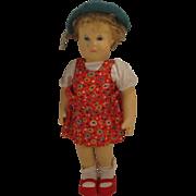 Steiff's Delightful and Rare Prewar Gretel Doll In Original Outfit