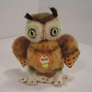 Steiff's Smallest Wittie Owl With ID