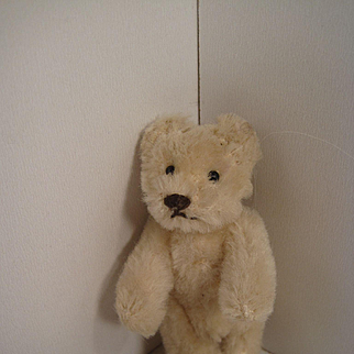 Steiffs Smallest Fully Jointed White Mohair Teddy Bear