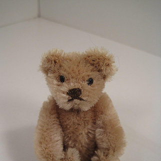 Steiff's Smallest Fully Jointed Caramel Mohair Teddy Bear