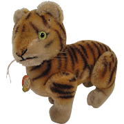 Steiff's Largest Early Postwar Fully Jointed Tiger With ID